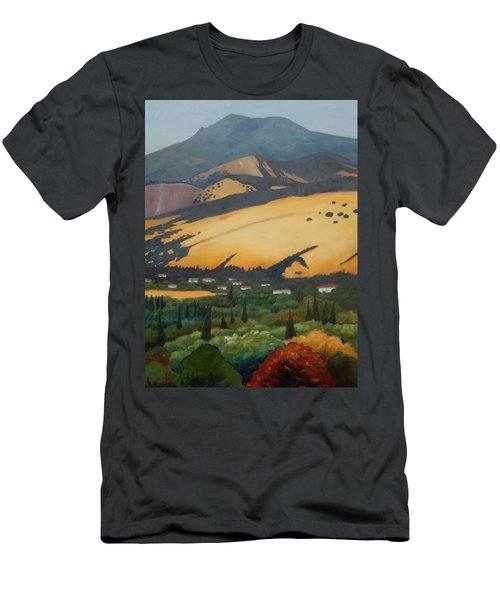 Men's T-Shirt (Slim Fit) featuring the painting Mt. Diablo Above by Gary Coleman