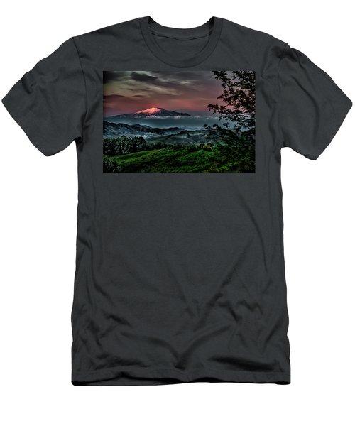 Mt. Etna I Men's T-Shirt (Slim Fit) by Patrick Boening