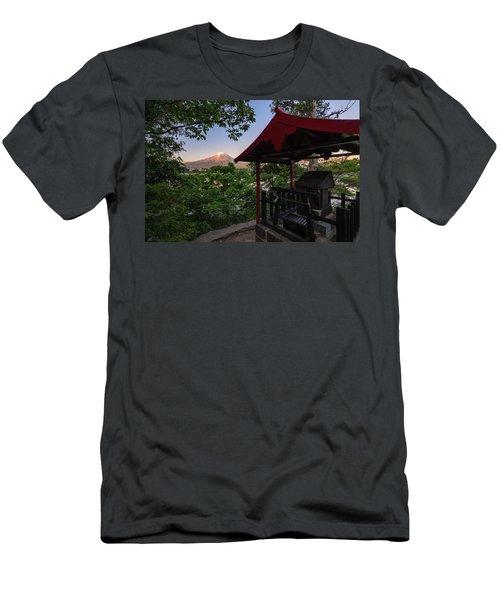 Mt Fuji From Ubuyagasaki Shrine Men's T-Shirt (Athletic Fit)