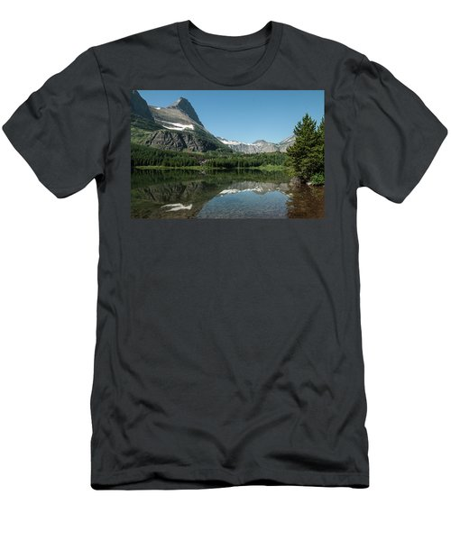 Mt. Grinnell Across Red Rock Lake Glacier National Park Men's T-Shirt (Athletic Fit)