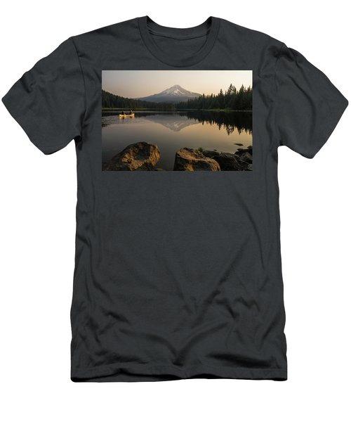 Mt Hood Sunrise  Men's T-Shirt (Athletic Fit)
