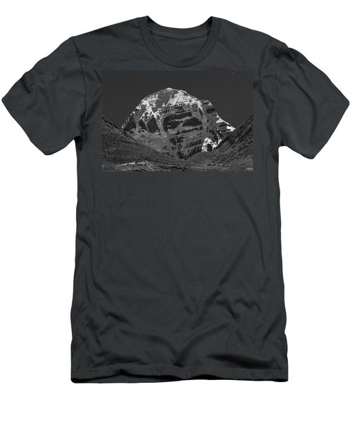 Mt. Kailash In Moonlight Men's T-Shirt (Athletic Fit)