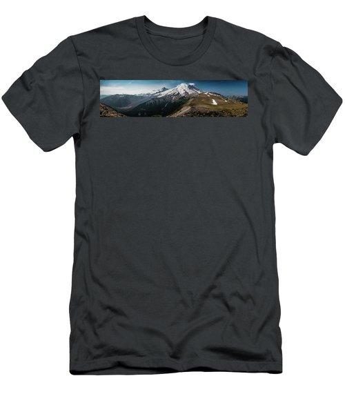 Mt. Rainier Panoramic Men's T-Shirt (Athletic Fit)