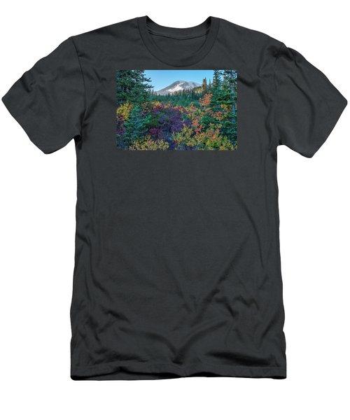 Mt Rainier With Autumn Colors Men's T-Shirt (Athletic Fit)