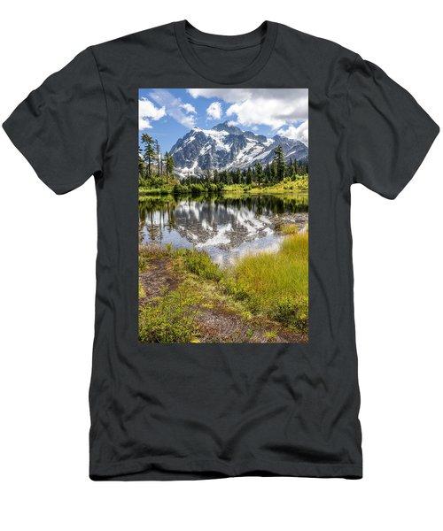 Mt Shuksan On Picture Lake 2 Men's T-Shirt (Athletic Fit)