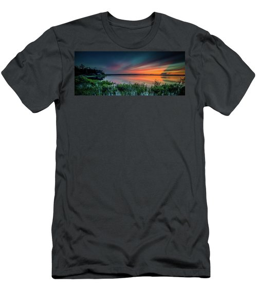 Mud Bay Sunset 4 Men's T-Shirt (Athletic Fit)
