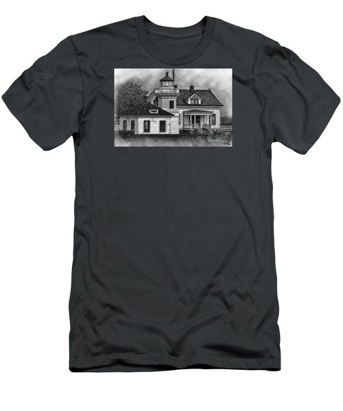 Mukilteo Lighthouse Sketched Men's T-Shirt (Slim Fit) by Kirt Tisdale