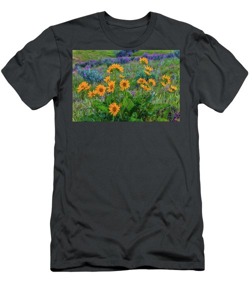 Mule's Ear And Lupine Men's T-Shirt (Athletic Fit)