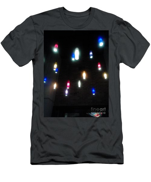 Multi Colored Lights Men's T-Shirt (Athletic Fit)