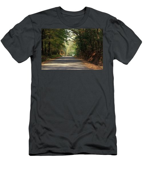 Men's T-Shirt (Slim Fit) featuring the photograph Murphy Mill Road by Jerry Battle