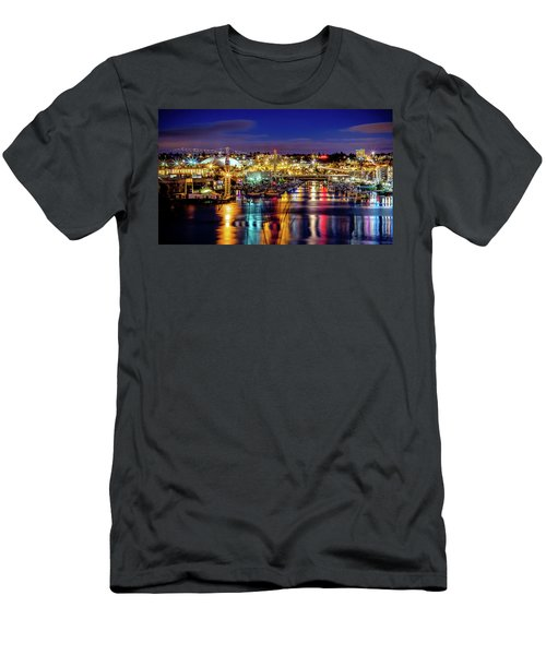 Murray Morgan Bridge View During Blue Hour In Hdr Men's T-Shirt (Athletic Fit)