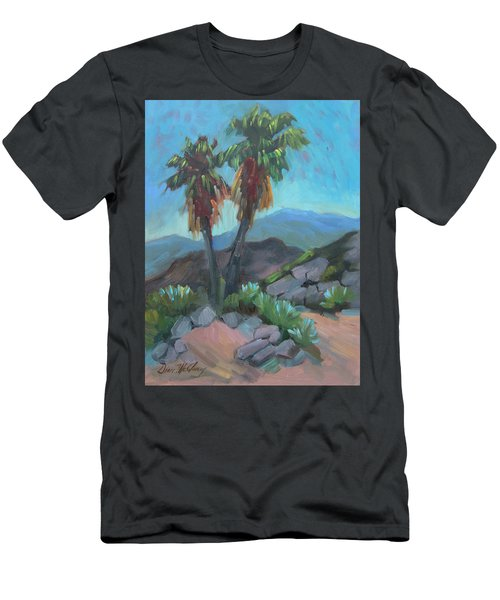 Men's T-Shirt (Slim Fit) featuring the painting Murray Trail Andreas Canyon by Diane McClary