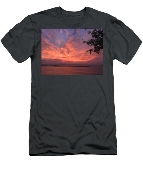 Muscongus Sound Sunrise Men's T-Shirt (Athletic Fit)