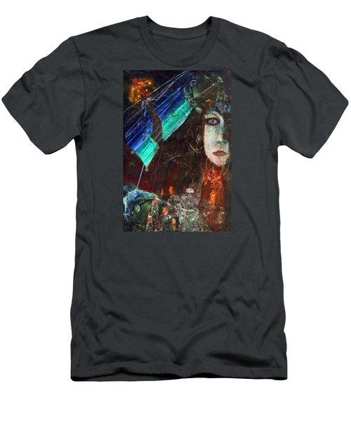 Mushroom Girl Men's T-Shirt (Slim Fit) by Mikhail Savchenko