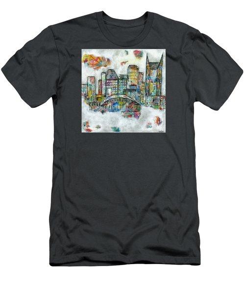 Music City Dreams Men's T-Shirt (Slim Fit) by Kirsten Reed