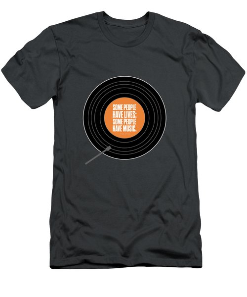 Music Quotes Typography Print Poster Men's T-Shirt (Athletic Fit)