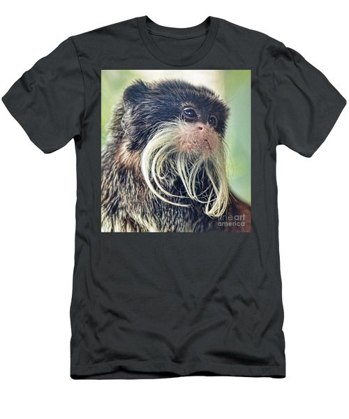Mustache Monkey Watching His Friends At Play Men's T-Shirt (Athletic Fit)