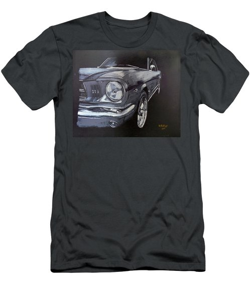 Men's T-Shirt (Athletic Fit) featuring the painting Mustang Front by Richard Le Page