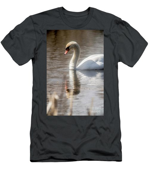 Men's T-Shirt (Slim Fit) featuring the photograph Mute Swan - 2 by David Bearden