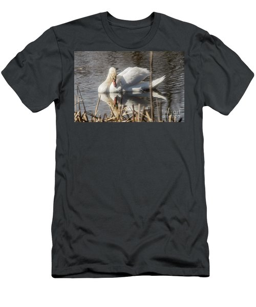 Men's T-Shirt (Slim Fit) featuring the photograph Mute Swan - 3 by David Bearden