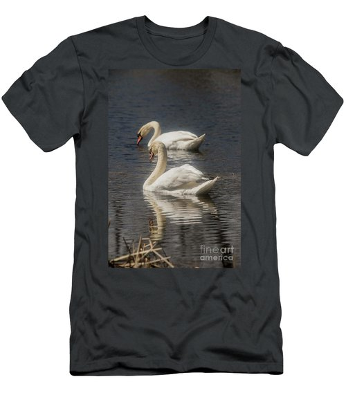 Men's T-Shirt (Slim Fit) featuring the photograph Mute Swans by David Bearden