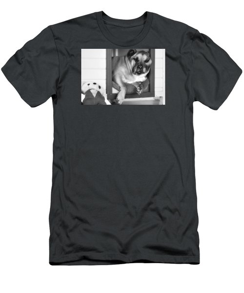 Men's T-Shirt (Slim Fit) featuring the photograph My Afternoon Nap 01 by Kevin Chippindall