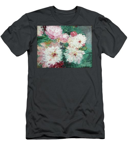 My Chrysanthemums Men's T-Shirt (Slim Fit) by Barbara Anna Knauf