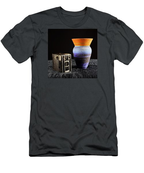 Men's T-Shirt (Slim Fit) featuring the photograph My Dad's Camera by Jeremy Lavender Photography