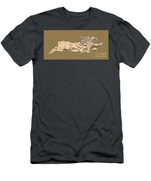 My Dog Tricksy Chewing A Bone Men's T-Shirt (Athletic Fit)