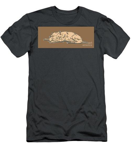My Dog Tricksy Sleeping Men's T-Shirt (Athletic Fit)