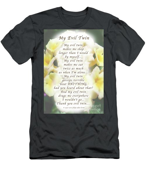 My Evil Twin Greeting Card And Poster Men's T-Shirt (Athletic Fit)