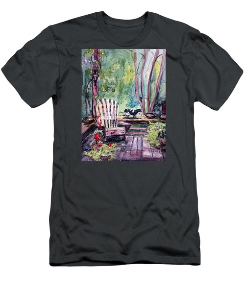 Men's T-Shirt (Slim Fit) featuring the painting My Front Porch by Gretchen Allen