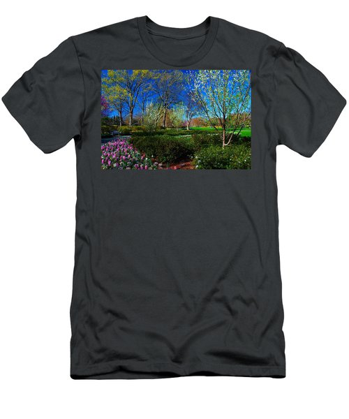 My Garden In Spring Men's T-Shirt (Slim Fit) by Diana Mary Sharpton