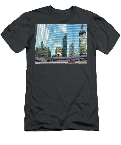 Men's T-Shirt (Slim Fit) featuring the photograph My Kind Of Town by Sandy Molinaro