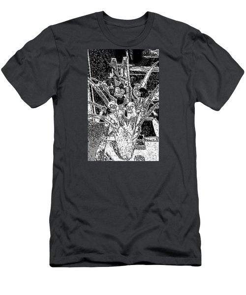 My Orchids Men's T-Shirt (Slim Fit) by Vickie G Buccini