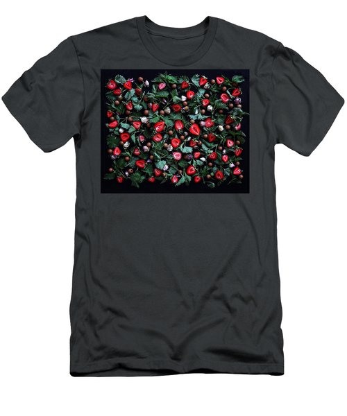 My Real Strawberry Patch Men's T-Shirt (Athletic Fit)