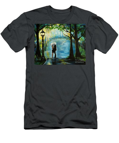 Men's T-Shirt (Athletic Fit) featuring the painting My Soulmate by Leslie Allen