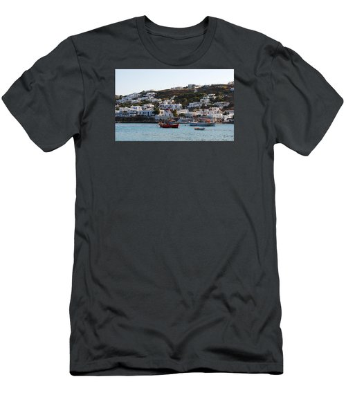 Mykonos Fishing Boats Men's T-Shirt (Athletic Fit)