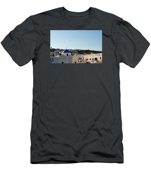 Mykonos Sunrise Men's T-Shirt (Athletic Fit)