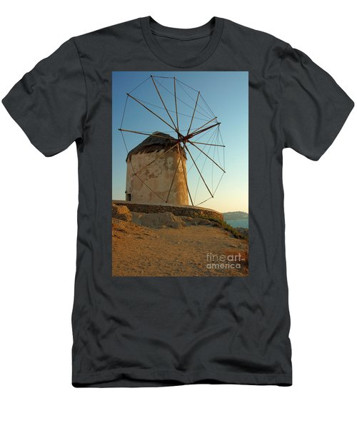Mykonos Windmill  Men's T-Shirt (Athletic Fit)