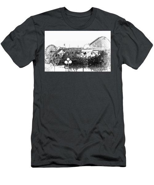 Myrtle Beach Pavillion Amusement Park Monotone Men's T-Shirt (Athletic Fit)