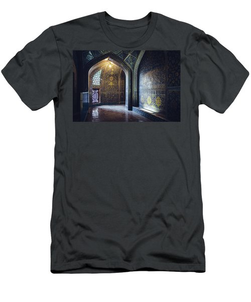 Mysterious Corridor In Persian Mosque Men's T-Shirt (Athletic Fit)