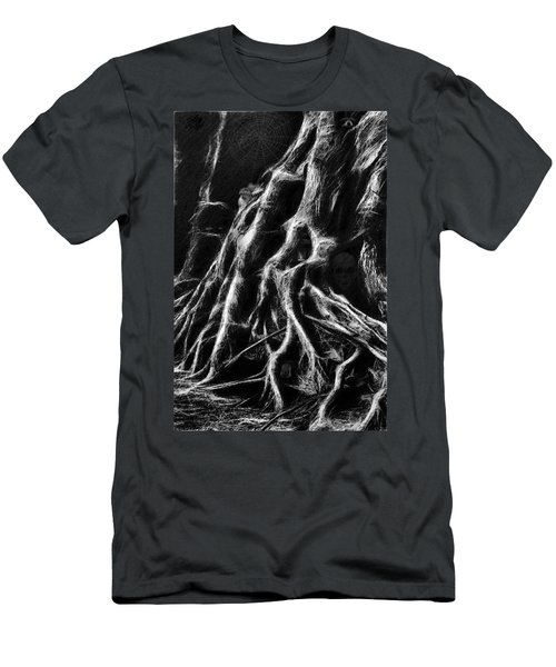 Mysterious Dark Forest Men's T-Shirt (Athletic Fit)