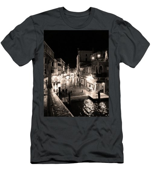 Mysterious Venice Monochrom Men's T-Shirt (Athletic Fit)