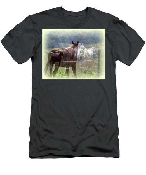 Mystic Horses Men's T-Shirt (Athletic Fit)