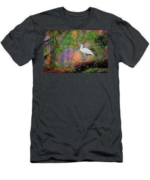 Mystical White Ibis Men's T-Shirt (Athletic Fit)
