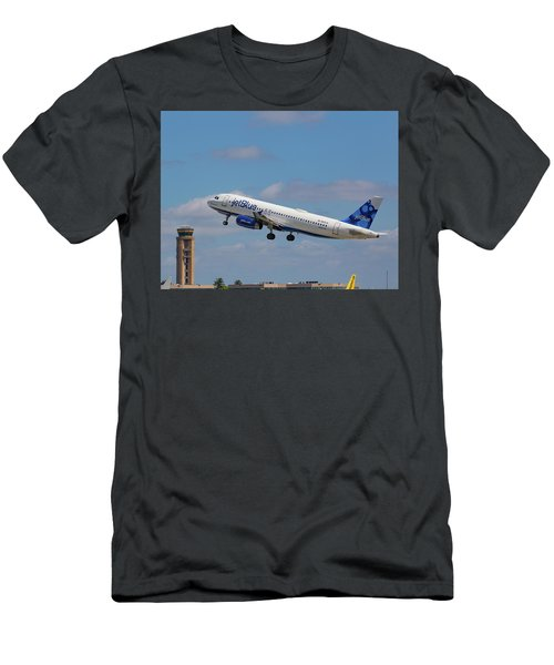 N625jb Jetblue At Fll Men's T-Shirt (Athletic Fit)