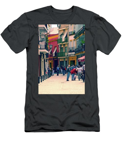 Men's T-Shirt (Slim Fit) featuring the photograph Triana On A Sunday Afternoon 1 by Mary Machare