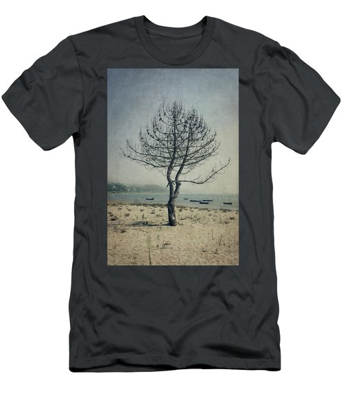 Men's T-Shirt (Slim Fit) featuring the photograph Naked Tree by Marco Oliveira