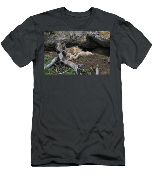 Men's T-Shirt (Slim Fit) featuring the photograph Nap Time by Steve Stuller